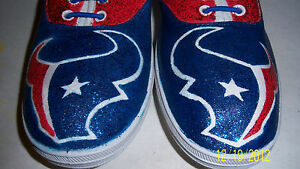 e513ede733a5 Image is loading Hand-Painted-Bling-Bling-Houston-Texans-NFL-Tennis-