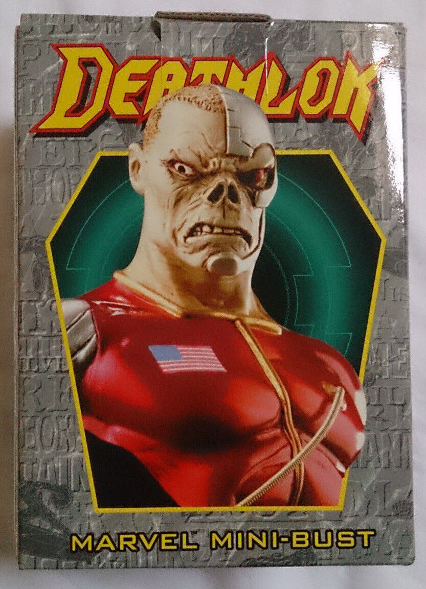 Marvel Comics Bowen Deathlok mini bust statue with box box box VGC 405734