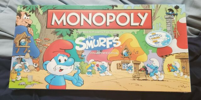The Smurfs Monopoly Collector's Edition Board Game NIB Factory Sealed **READ**
