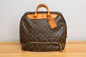 GU-Louis-Vuitton-LV-Evasion-Travel-Duffel-Hand-Bag-Authentic-w-Lock-Key-Nametag