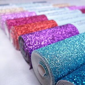 FINE-Glitter-Material-MINI-ROLLS-sew-glue-or-die-cut-24-colours