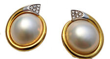 MIKAWA BY DAMIANI ORECCHINI ORO PERLE E DIAMANTI EARINGS GOLD PEARL DIAMONDS
