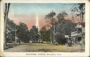 Bloomfield-CT-Hartford-Ave-c1910-Hand-Colored-Postcard
