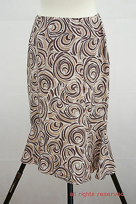 Clothing, Shoes & Accessories Size Uk12 Euro 38 Ture 100% Guarantee Reliable P201/42 Minuet 100% Linen Hypoallergic Trumpet Line Skirt
