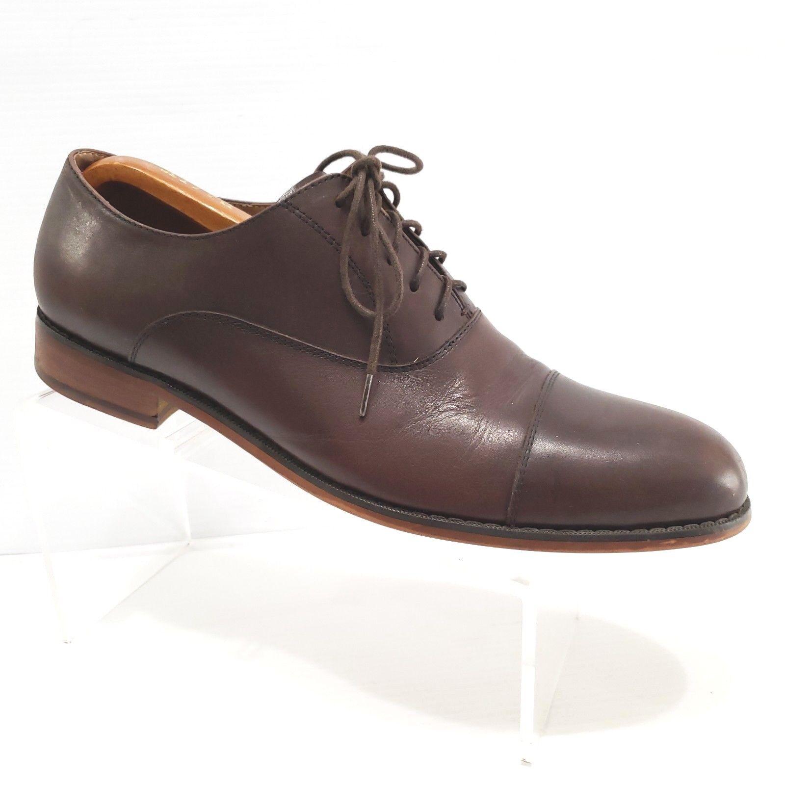 New Republic Mark McNairy Brown Cap Toe Dress Oxfords Size 11.5 Mens