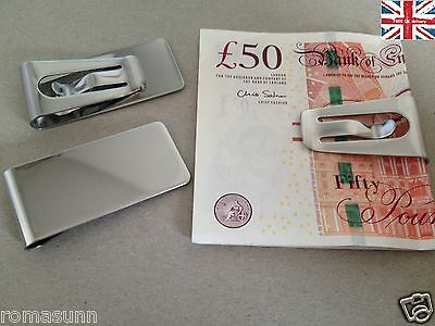 Mens Stainless Steel Style Silver Money Clip for Men New