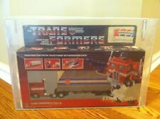 Transformers Original G1 AFA GRADED Optimus Prime MISB w/ Pepsi Sticker