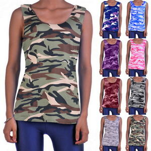e3636889b8a7c Image is loading Plus-Size-Womens-Fashion-Camouflage-Tops-Vest-Tank-