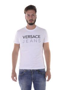 66fde5a386 T shirt Maglietta Versace Jeans Sweatshirt SLIM Cotone Uomo Bianco ...