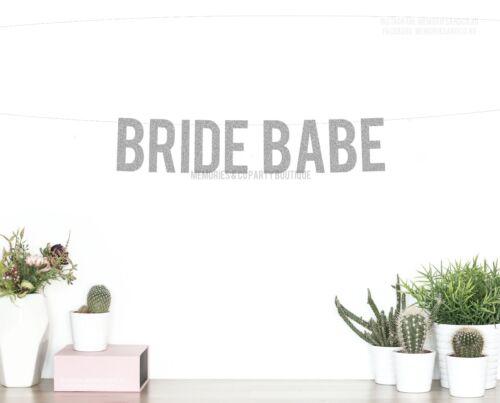 RED Letter Garland Bachelorette Details about  /BRIDE BABE Banner Sign Bridal Shower Hens