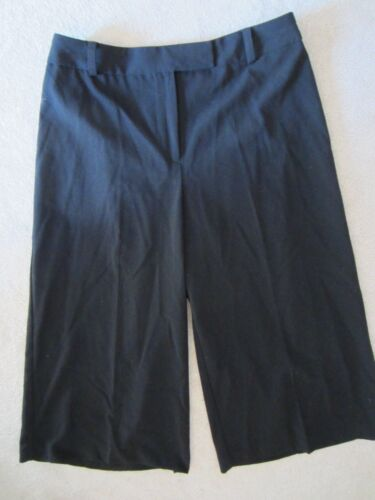 Culottes 4 Great Taglia Size Up Womens Black Nuovo Pantaloni Fitting Front Covington Zip Uxn0qPc