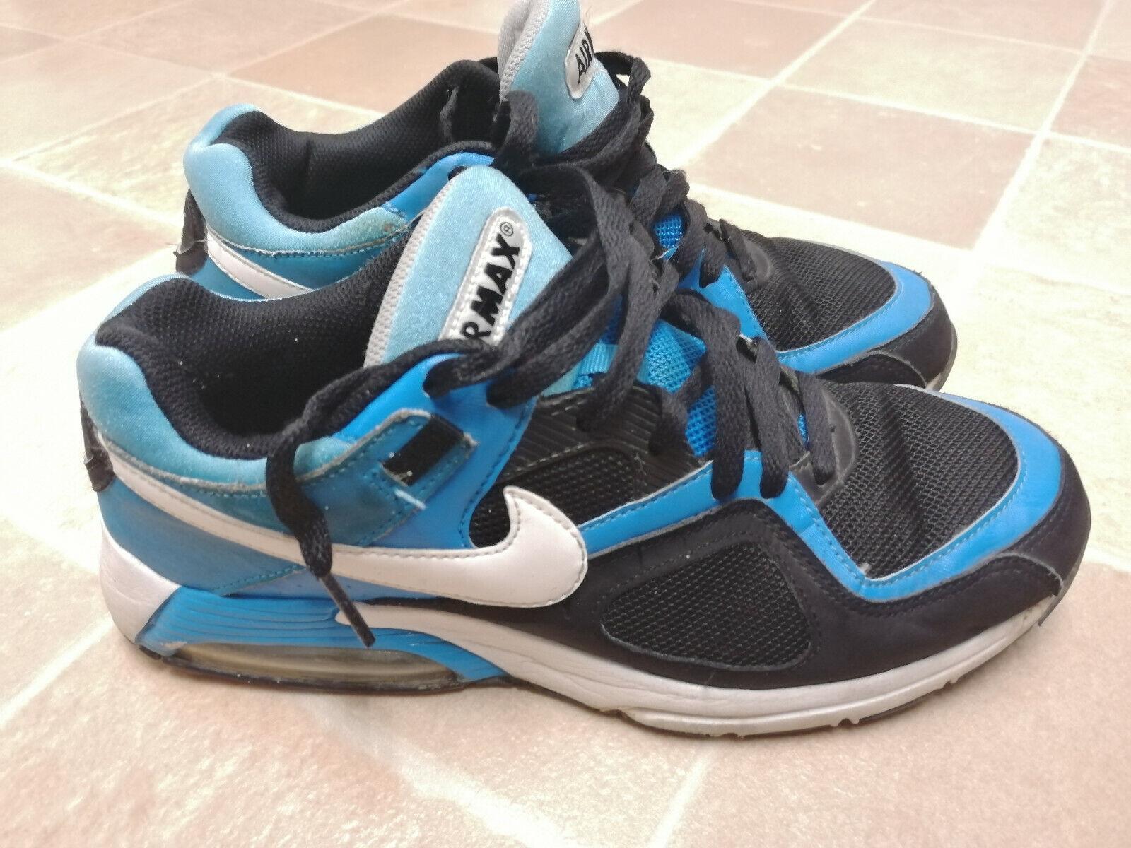 NIKE Air Max Go Strong 418115-014 Blau schwarz Running Turnschuhe Trainers Größe 8.5