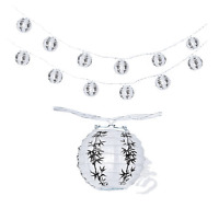 Chinese Japanese Paper Lantern 4 Party String Lights (set Of 12), Bamboo Lucky