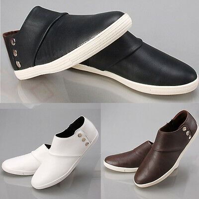 Fashion Men's Flats Ankle Boots Business Casual Shoes Slip On Sneakers Loafers