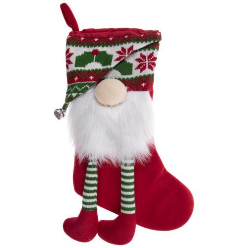 "Festive Gnome Stocking 19.5/"""