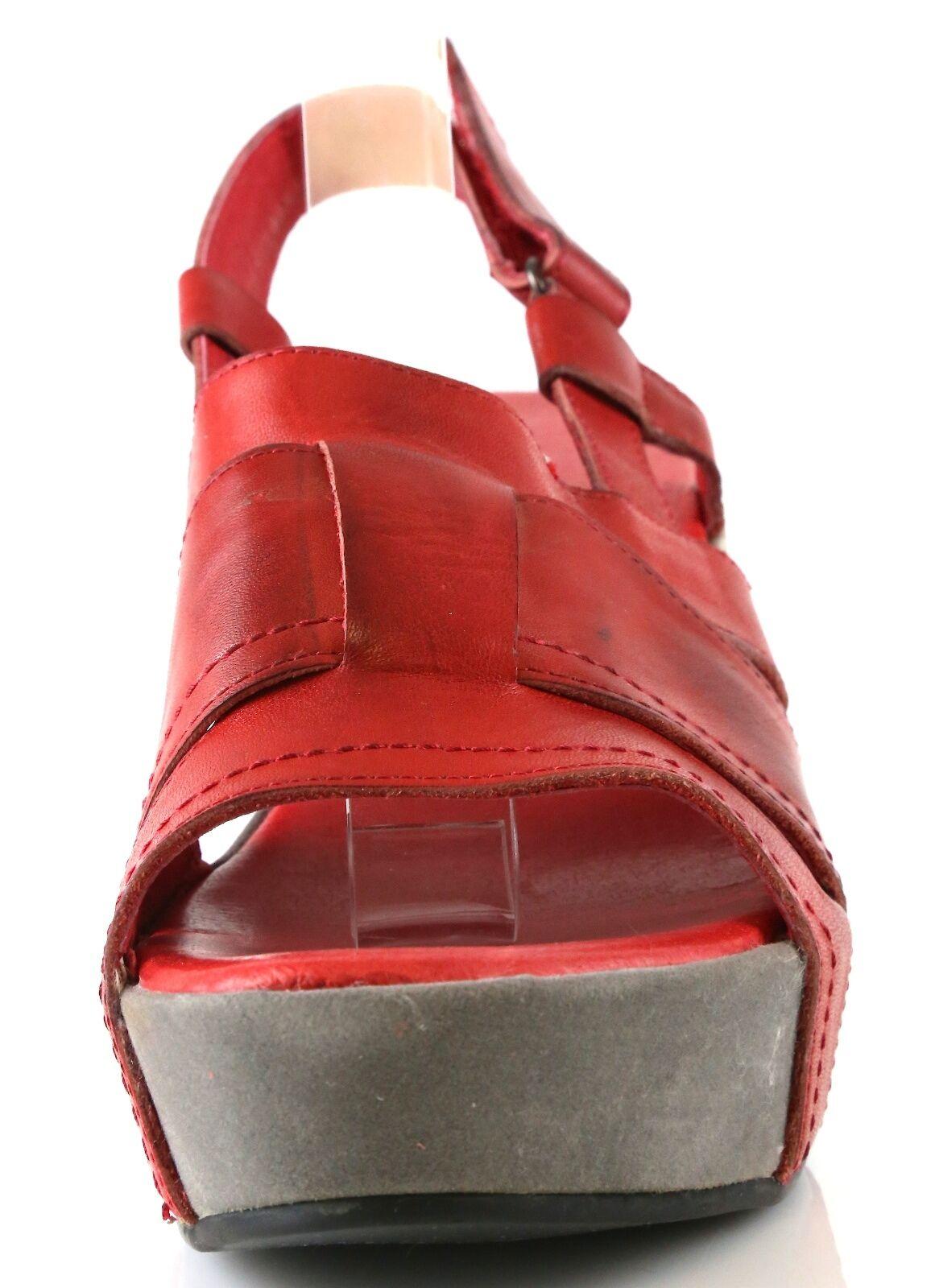 Antelope 867 Größe ROT Leder Ankle Strap Wedge Sandales 7052 Größe 867 40 EU NEW 5bb5dc