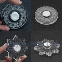 Hand Fidget Spinner Transparent  Acrylic Gyro EDC ADHD Autism Anti Stress Toy