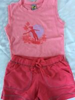 Girls 10 Boutique Charlie Rocket Pink Surf Outfit Top Shorts Heart