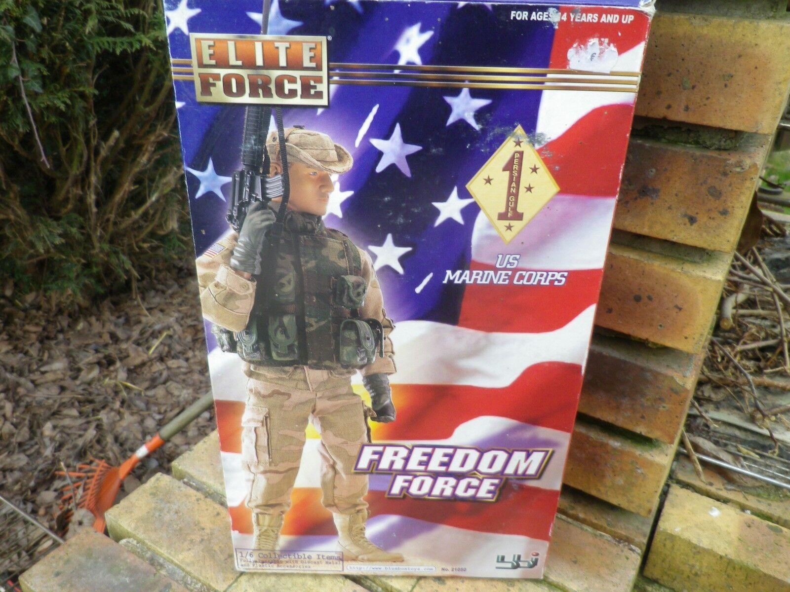 ELITE FORCE US MARINE FREEDOM FORCE FIGURINE 1 6em COMME NEUF EN BOITE