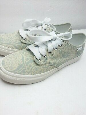 Vans Off The Wall 721356 Light Blue Beige Floral Womens Size 7.5 Lace | eBay