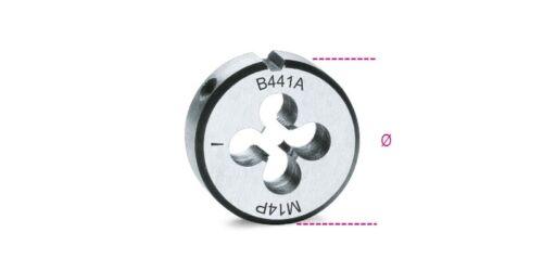 Beta Tools 441A Chrome-Steel Fine Pitch Metric Thread Die M11 x 1mm Ø 38.1mm