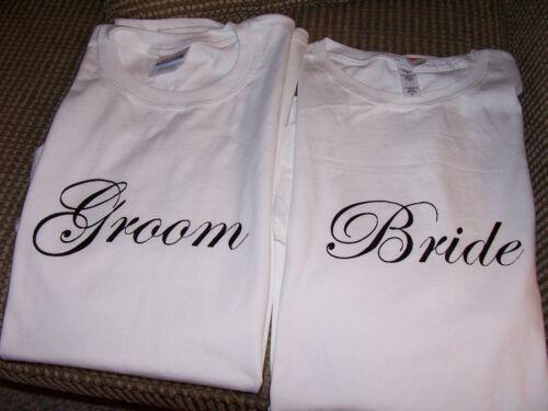 GREAT WEDDING GIFT FAST SHIP! HONEYMOON SHIRTS BRIDE AND GROOM