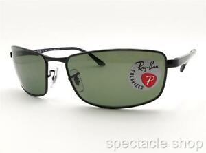2f8d56c68a Ray Ban RB 3498 002 9A Black Polarized Green New Authentic ...