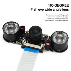 Fisheyes 160 Degree 5Mp Nachtsicht Wide Angle Rpi Kamera Für Raspberry Pi 4B/ 3B