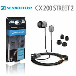 New Sennheiser CX200 Street-ll Comfort In-Ear Earphones Headphones CX-200 Black