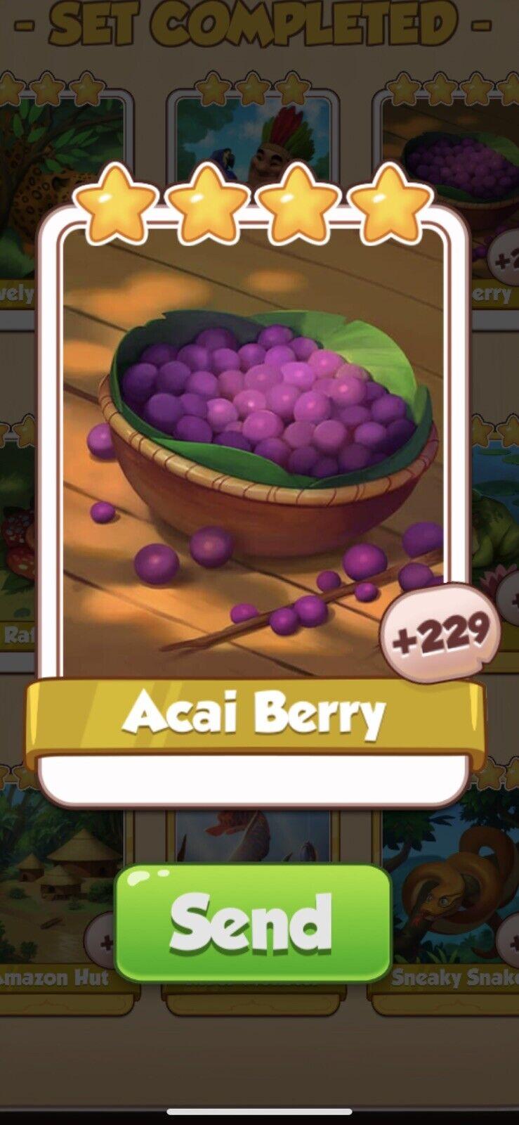 Coin Master Amazonas, Acai Berry Card (Fast Sending)