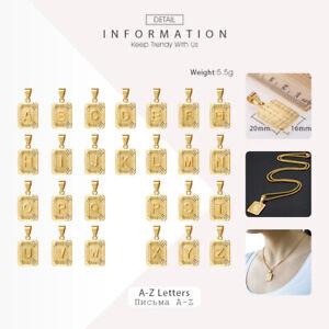 Gold-Filled-Initial-A-Z-Letter-Pendant-Monogram-Necklace-For-Men-Women-18-034-30-034