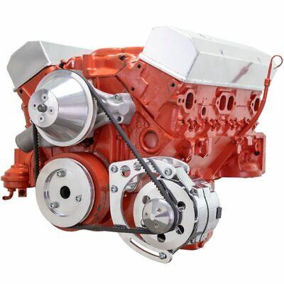 Small Block Chevy Chrome SWP Alternator Bracket SBC 283 327 350 Short Water Pump