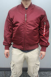 size 40 09634 56736 Details about Alpha Industries Ma-1 VF 59 Burgundy 191118/184 Pilot Jacket  Army New Tt Red