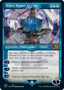 1x Teferi, Master of Time (292) - Foil - Showcase NM, English MTG Core Set 2021