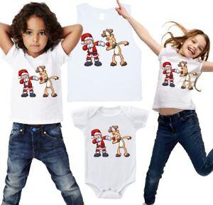 Dabbing Santa & Reindeer • Christmas • Kids T-Shirt, Romper or Muscle Tee