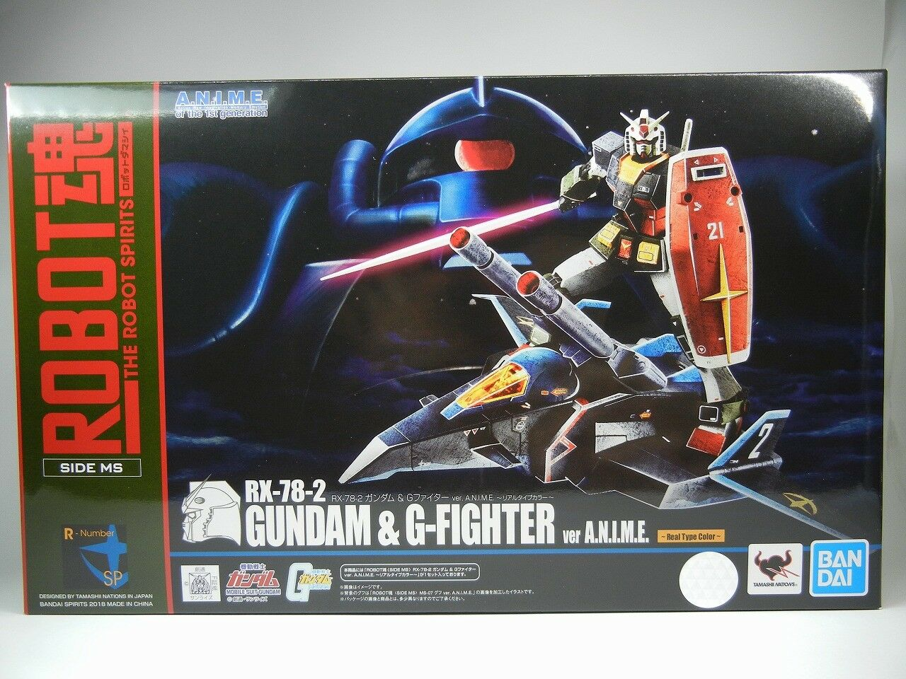 Tamashii Nation 2018 RX-78-2 Gundam & G-Fighter Ver. Anime Color tipo real