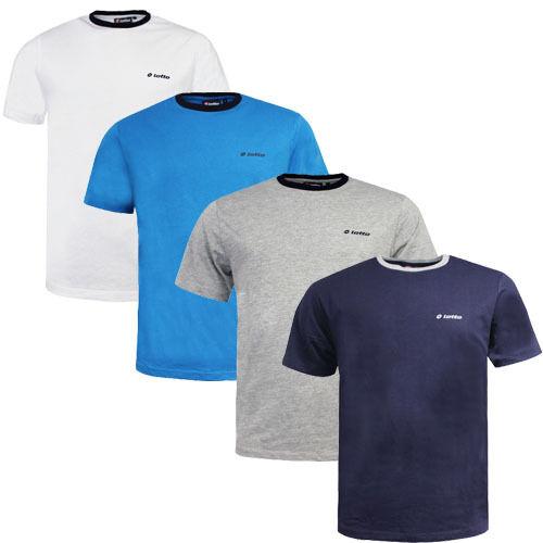 Lotto Contrast Ringer Tee Crew Neck Mens Cotton T-Shirt S15LTAM004
