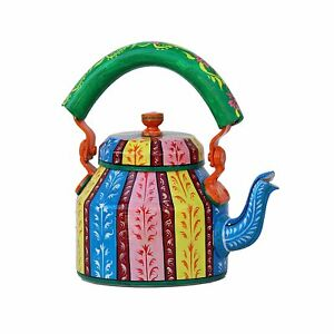Indian Traditional Tea Kettle 106 Multi Color India Hand Painted