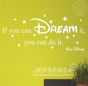 Wandtattoo-Walt-Disney-If-you-can-dream-it-you-can-do-it-100x42cm-Z406-Sterne