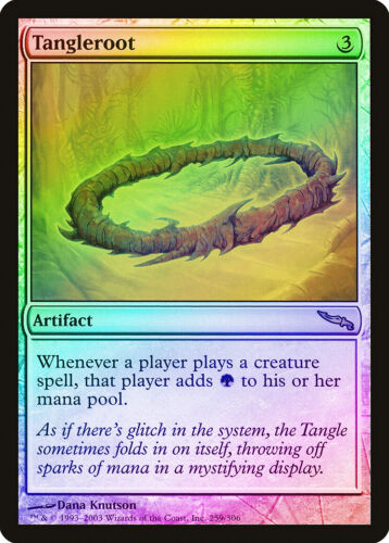Tangleroot FOIL Mirrodin PLD-SP Artifact Rare MAGIC THE GATHERING CARD ABUGames