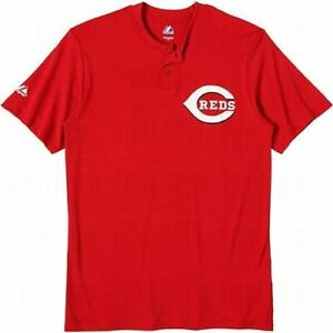 Majestic-Two-Button-Cincinnati-Reds-Replica-Adult-Jersey-50-50-Blend-SZ-M-R32