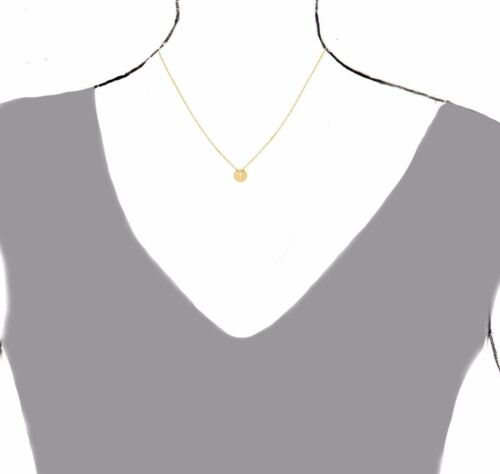 14k Yellow Gold Mini Contemporary Cut-out Cross Necklace Chain Adjustable 16-18