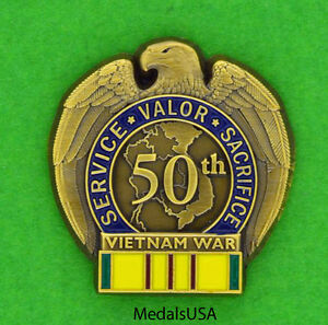 95051364cb5dc Vietnam War 50th Anniversary - Pin Lapel Hat Cap - in country ...