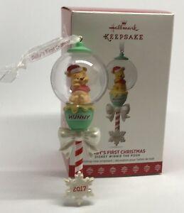 Hallmark Disney Winnie the Pooh Baby/'s First Christmas Keepsake Ornament  2017