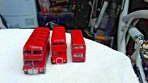 BUSES-4-RED-ROUTEMASTER-1-Lone-Star-1-Matchbox-Diecast-Tour-Bus-amp-1-Diecast-Bus