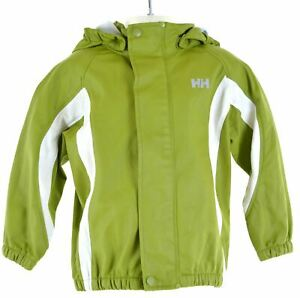 HELLY-HANSEN-Boys-Rain-Jacket-2-3-Years-Green-Polyester-KP59