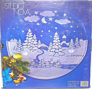 Holiday-Christmas-Party-Snow-Frosted-Glass-Cake-Plate-Platter-15-in-Studio-Nova