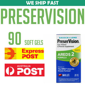 Bausch-Lomb-PreserVision-AREDS-2-Formula-90-Soft-Gels-Vision-AUSTRALIA-STOCK