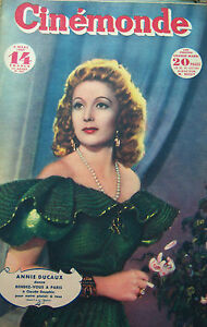 Cinema-Annie-Ducaux-Rhonda-Flaming-Tino-Rossi-Moda-Serate-N-657-Kodak-1947