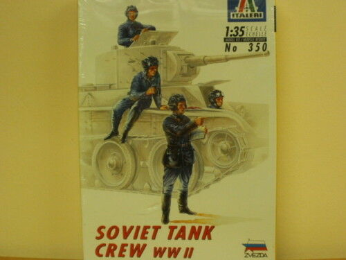 4 Figuren 350 Soviet Tank Crew WW II ,1:35,ITALERI,ovp